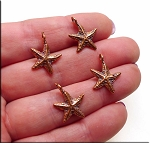Genuine Solid COPPER Beader Bailed Starfish, CLOSEOUT (1)