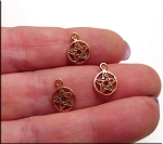 Solid COPPER Pentacle Charm, CLOSEOUT (1)