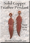 COPPER Double-Sided Feather Charm-Pendant
