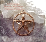 Copper Male Ouroboros Pentacle Pendant