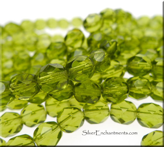 Polished Olivine Basalt Fire : Czech glass beads fire polished olivine mm