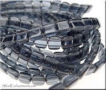 CzechMate Glass 2-Hole 6mm Tile Beads, MONTANA BLUE Strand
