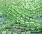 Glass CzechMates Two Hole Tile Beads, LIGHT PERIDOT