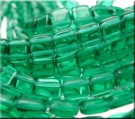 CzechMates Tile Beads, EMERALD