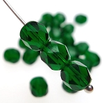 Green Designer Czech Glass Beads
