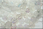 Czech Glass Moon Beads, Crystal AB, 10mm