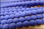 6mm Neon Blue Fire Polished Beads