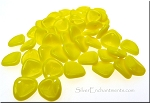 Opaque Yellow 8mm Rose Petal Beads