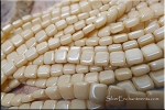 2-Hole CzechMates 6mm Tile Beads, Opaque CHAMPAGNE LUSTER Strand