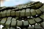 2-Hole CzechMates 6mm Tile Beads, Matte UMBER Strand