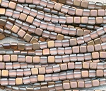 MATTE APOLLO GOLD CzechMates Tile Beads Czech Glass 2-Hole Beads