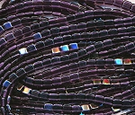 CzechMates Tile Beads Czech Glass 2-Hole Beads, TANZANITE Strand