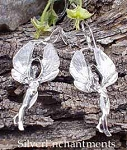 Fairy Queen Earrings, Sterling Silver Fairy Earrings, Fairy Jewelry
