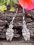 Goddess Earrings, Sterling Silver Venus of Willendorf Earrings