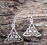 Celtic Triquetra Earrings, Sterling Silver Celtic Triquetra Earrings
