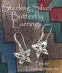 Butterfly Earrings, Sterling Silver Butterfly Charm Earrings