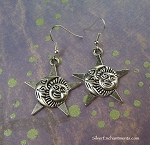 Silver Sun Moon Star Earrings, Celestial Jewelry