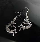 Silver Kokopelli Earrings - Everyday Southwestern Jewelry