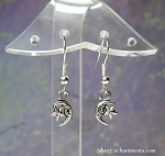 Silver Small Moon Earrings, Crescent Moon Jewelry