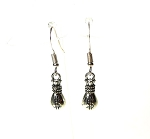 Silver Money Earrings, Lucky Gambling Jewelry