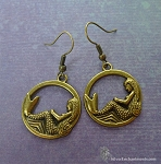 Brass Mermaid Earrings - Mermaid Jewelry