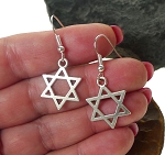 Silver Star of David Earrings - Everyday Jewish Jewelry