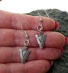 Arrowhead Earrings - Everyday Silver Arrowhead Jewelry