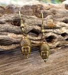 Buddha Earrings, Bronze Buddha Jewelry - Everyday Spiritual Earrings