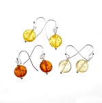 Amber Earrings, Amber Dangle Earrings, Silver Amber Drop Earrings, Amber Resin Earrings