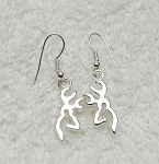 Silver Reindeer Earrings, Stag Earrings, Deer Earrings