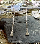 Broom Earrings, Besom Earrings - Sterling Silver Witches 3D Broom Earrings