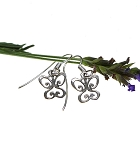 Butterfly Earrings, Sterling Silver Scroll Butterfly Earrings
