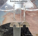 Sterling Silver Rainbow Earrings, Rainbow Jewelry