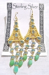 Apatite Chandelier Earrings, Gold Vermeil and Gemstone Earrings