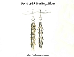 Sterling Silver Cornuto Earrings, Multi Italian Horn Dangling Earrings