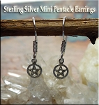Sterling Silver Petite Small Pentacle Earrings