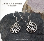 Celtic Alcoholics Anonymous Earrings, Sterling Silver Discrete Sobriety Earrings, Recovery Jewelry