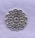 Sterling Silver Filigree Components, 20mm (1)