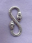 Sterling Silver Snake S-Hook Clasps, 28mm Jewelry Clasps (1)