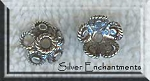 Sterling Silver Fancy Blossom Bead Caps 9mm (10)