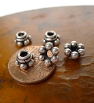 Sterling Silver Beadcaps, 8mm (10)