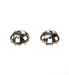 Sterling Silver Southwestern Pierced Beadcaps, 8.5mm Frill Edge (2)