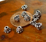 Sterling Silver Bead Caps, 5mm Beading Topper Caps (10)