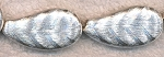 Sterling Silver Plated Leaf Beads, 38x20x9mm Diamond Cut Beads (1)