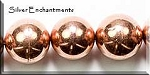 Copper 15mm Round Ball Bead