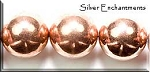 Copper 18mm Round Ball Bead