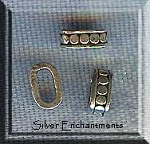 Sterling Silver Dot Accent Oval Tube Spacer Bead