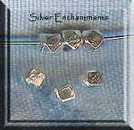 Sterling Silver 5mm Faceted Cube Spacer Beads, Precious Metal Beads (1)