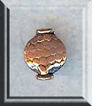 Ornate Fluted Coin Bead, Copper