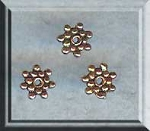 Copper 6mm Snowflake Spacers, Bulk 10pc